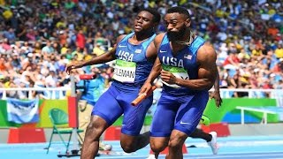 Team USA Men's 4x100 Disqualified in Finals Rio Olympics 2016