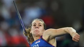 Croatia's Sara Kolak Wins Gold Medal In Women's Javelin Throw Rio Olympics 2016
