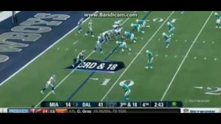Miami Dolphins vs Dallas Cowboys Preseason 2016 Defense 1st team looked like Shit