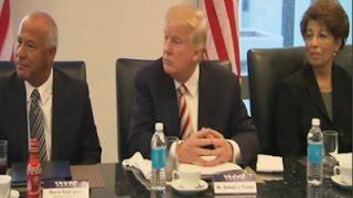 Trump Meets With Hispanic Advisory Group in NYC
