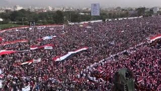 Raw: Massive Yemen Rally for Houthi Rebels