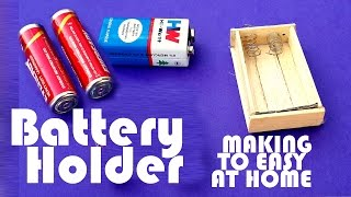 How To Make a Battery Holder Using Ice Cream Stikes - Battery Holder