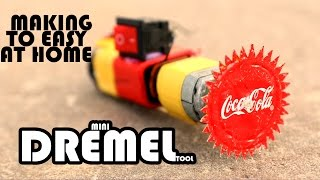 How To Make Mini Dremel Tool Using Battery And Cool Drink Cap - Dremel Tool