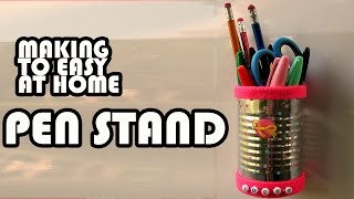 How to Make Pen Stand Using Paper At Home - Pend Stand
