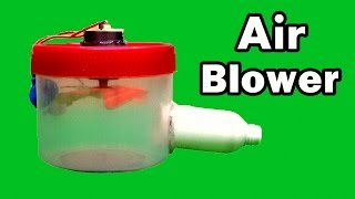How to Make an Air Blower at Home Using Plastic Container