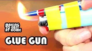 How to make a Hot Glue Gun using a Lighter At Home