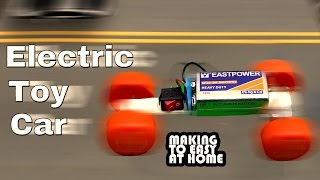 How To Make Toy Electric Car At Home Easy