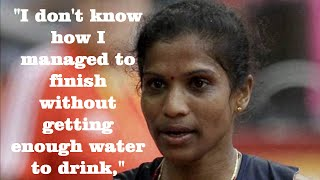 Jaisha rio olympics- no water is provided by indian officials at rio