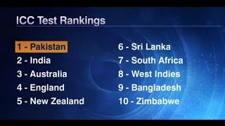 Pakistan Tops ICC Test Ranking For The First Time ICC