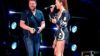 Cassadee Pope Arrived Late for Chris Young Duet