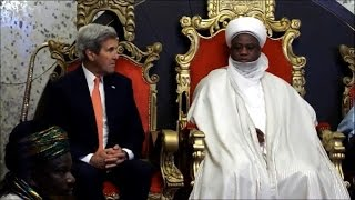 Kerry in Nigeria warns against violent extremism