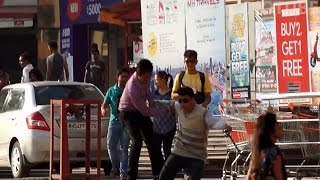 Blind Man Prank In India 2015 - iDiOTUBE