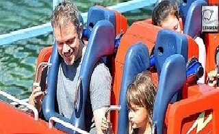 Matt Damon Takes Daughter Gia To Disneyland (Video)