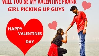 Girl Proposing Random People Prank India - iDiOTUBE