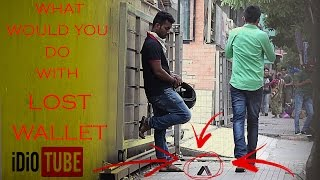 Social Experiment - Lost Wallet In Public! (Shocking Reactions) - iDiOTUBE