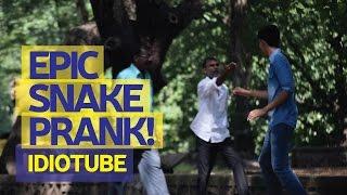 Epic SNAKE Chase Prank Gone Right! (Prank In India) - iDiOTUBE