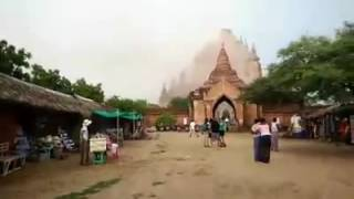 Today's Earthquake in Myanmar destroyed historical place Bagan in Mandalady Dvision