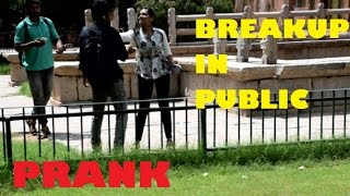 BREAKUP in Public Prank Pranks in INDIA