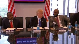 Donald Trump meets with African-American leaders at Trump Tower