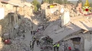 Raw: Drone Shows Italy Quake Devastation