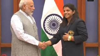 PM Modi meets Olympians, sporting legends at 7RCR