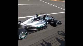 F1 Nico Rosberg training start Belgian GP 2016 AMAZING