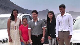 Sachin Tendulkar Presents BMW Car to PV Sindhu
