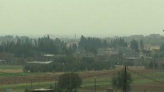 Raw: Military Action Along Turkey-Syria Border