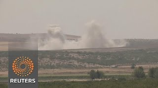 Explosions rock Syrian town of Jarablus bordering Turkey
