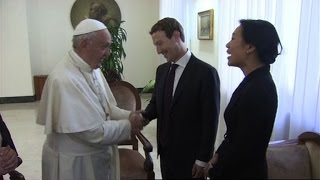 Pope Francis meets Facebook founder Mark Zuckerberg