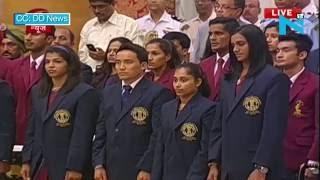 Sindhu, Sakshi, Dipa receive Khel Ratna award, Rahane gets Arjuna award