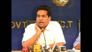 Delhi Water Minister Kapil Mishra Briefs Media on Important DJB decision