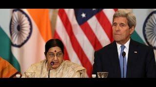 John Kerry Meets Sushma Swaraj In Delhi - Video Footage