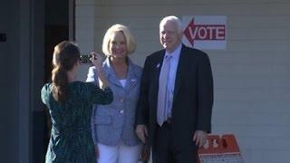 Sen. John McCain Votes in Arizona Primary