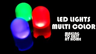 How To Make Malti Color Led Light Using Battery At Home