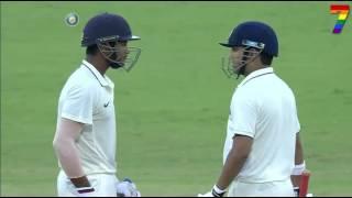 Duleep Trophy 2016-17: India Red vs India Blue - Mayank Agarwal 92 (167)