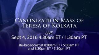 Salt - Light to Air Canonization Mass of Teresa of Kolkata - Promo
