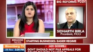 Sidharth Birla on improving the investment climate in India
