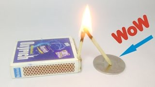 Simple Science Experiment - Coin and Matchstick Trick
