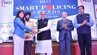 Sampat Meena, IG, CID, Jharkhand Police receiving FICCI SMART Policing Award