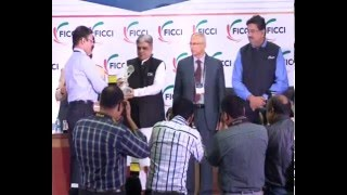 Dr  R P Sharma, Odisha Police receiving FICCI SMART Policing Award