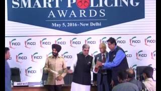 Mr Sumant Singh, AIG Tech, CISF receiving FICCI SMART Policing Award