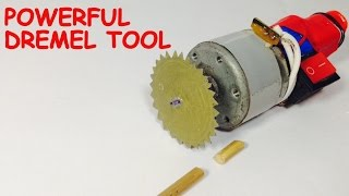 How to make a POWERFUL MINI CUTTER at HOME - DREMEL TOOL
