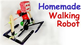 How to make a WALKING ROBOT at HOME Easy