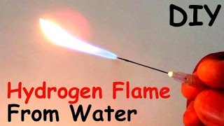 How to Make a HYDROGEN FLAME GENERATOR from WATER at HOME - DIY