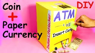 How to Make Piggy Bank ATM Machine at Home - DIY Craft for Kids
