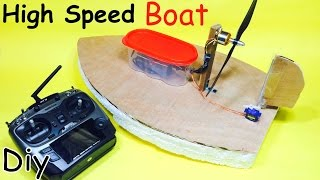 How to Make a RC Electric Boat - Homemade Hovercraft