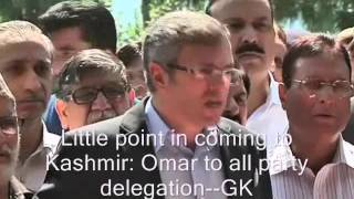 Little point in coming to Kashmir: Omar to all party delegation