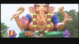 Ganesh Chaturthi in Tenali | Huge Ganesh Idol iNews