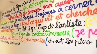 Artist Ben Vautier paints Musée Maillol wall for reopening expo